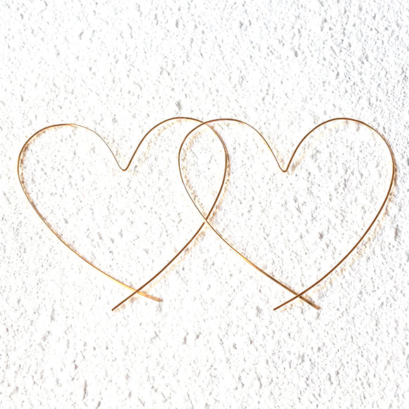 Oversized Heart Hoops, Gold Vermeil