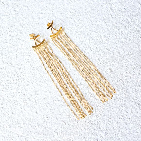 Apollo Drop Earrings, Gold
