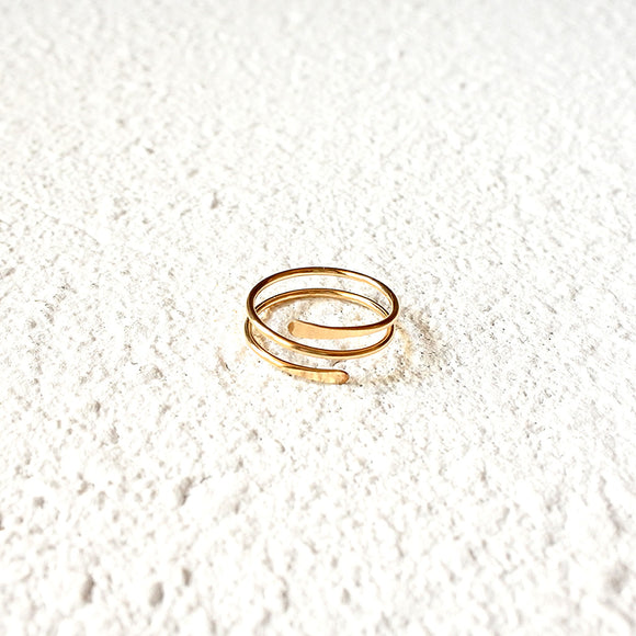 Wrapped Midi Ring, Gold Vermeil