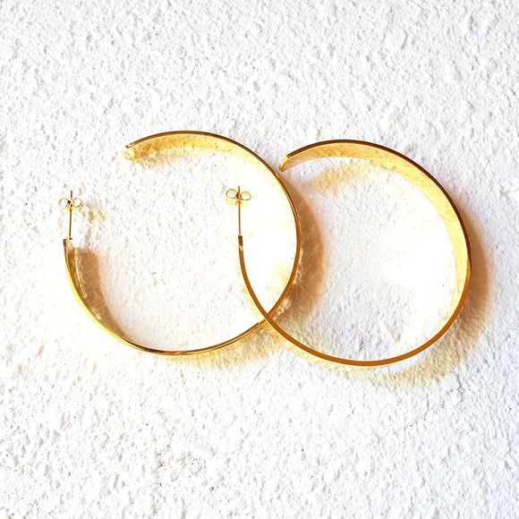 Goddess Hoop Earrings, Gold