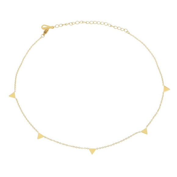 Pyramid Choker, Gold