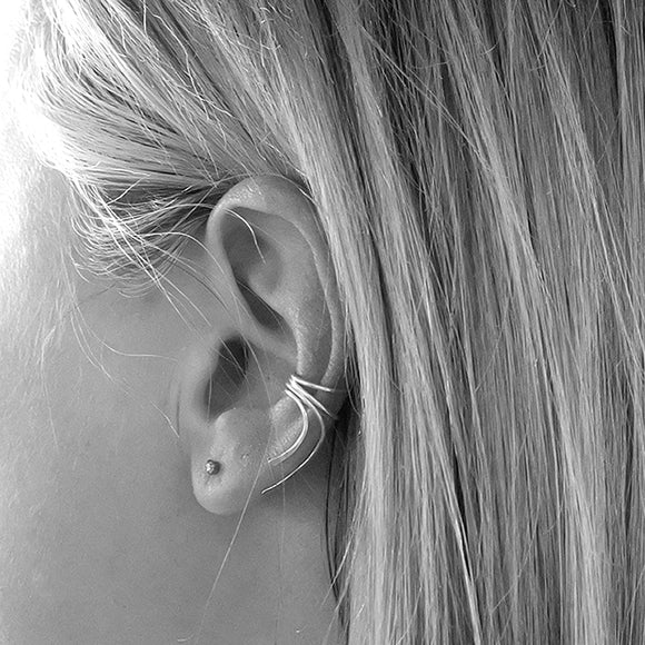Wrapped Ear Cuff, Rose Gold Vermeil