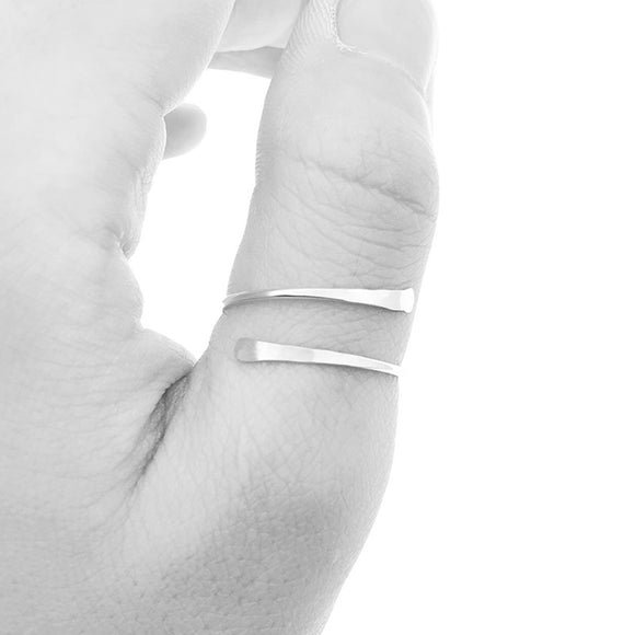 Hammered Thumb Ring, Sterling Silver