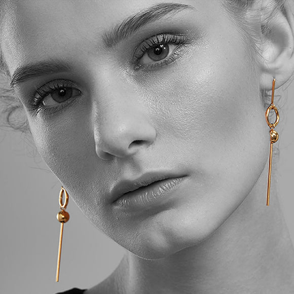 Amazon Drop Earrings, Rose Gold