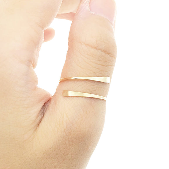 Hammered Thumb Ring, Gold Vermeil