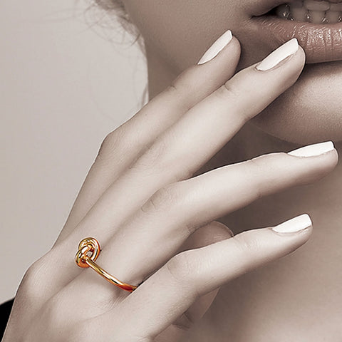 Loop Knot Ring, Gold