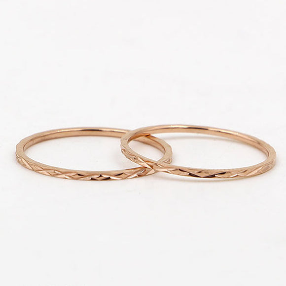 Patterned Stacking Rings, Rose Gold