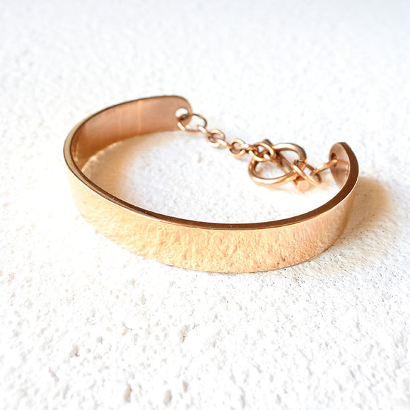 Traditional Layering Cuff, Rose Gold