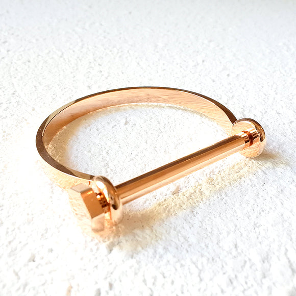 Bolted Shackle Cuff, Rose Gold