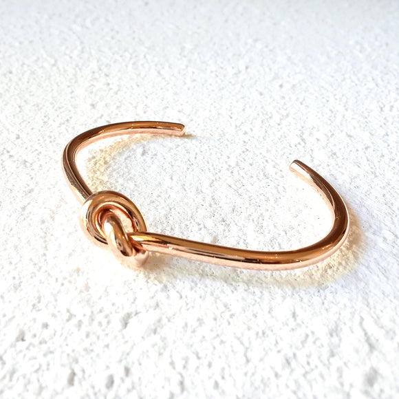 Loop Knot Cuff, Rose Gold