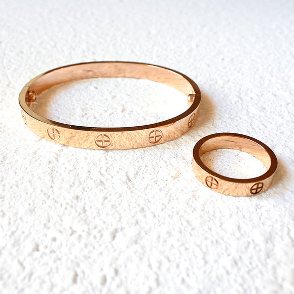 Modern Chivalry Ring, Rose Gold
