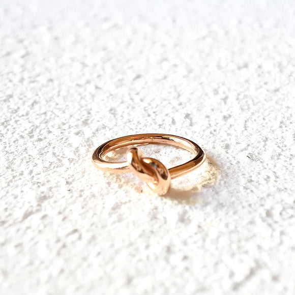 Loop Knot Ring, Rose Gold