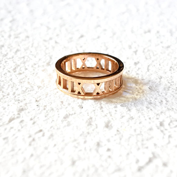 Roman Empress Ring, Rose Gold