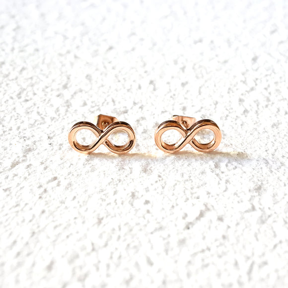 Eternity Stud Earrings, Rose Gold