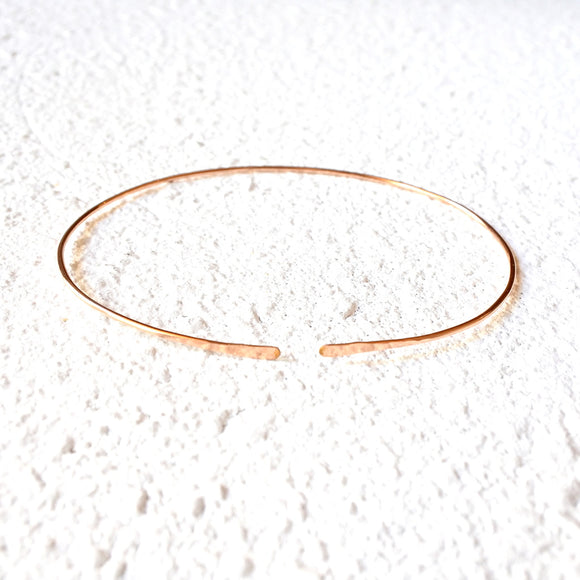 Hammered Choker, 14K Rose Gold Vermeil