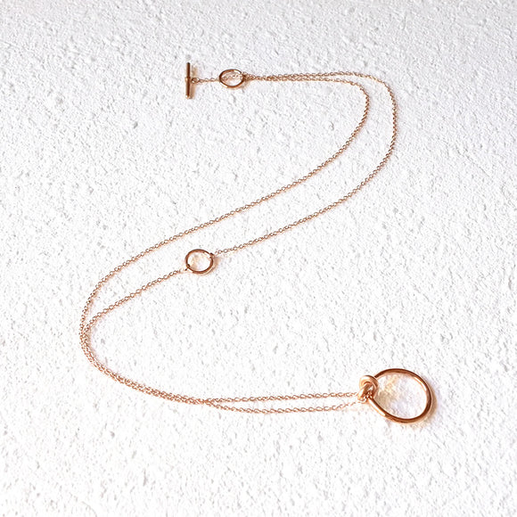 Loop Knot Chain, Rose Gold