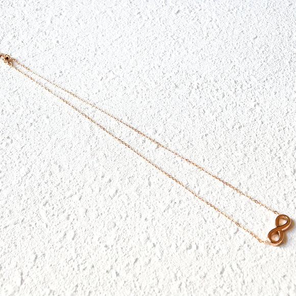 Eternity Necklace, Rose Gold
