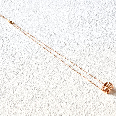 Roman Empress Necklace, Rose Gold