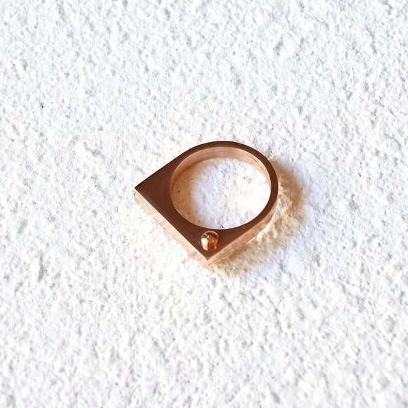 Knuckle Duster Ring, Rose Gold