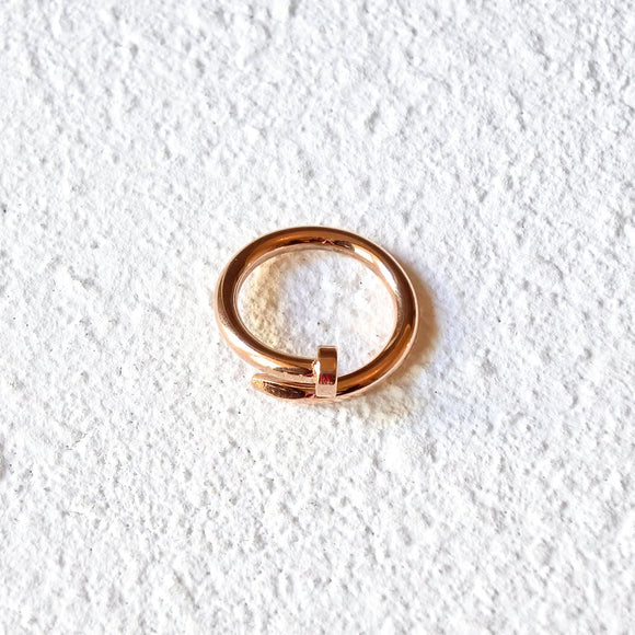 Twisted Nail Ring, Rose Gold
