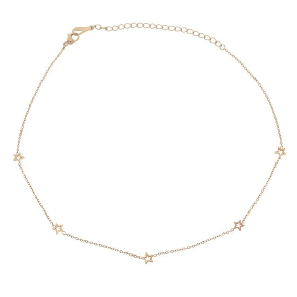 Constellation Choker, Rose Gold