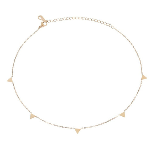 Pyramid Choker, Rose Gold