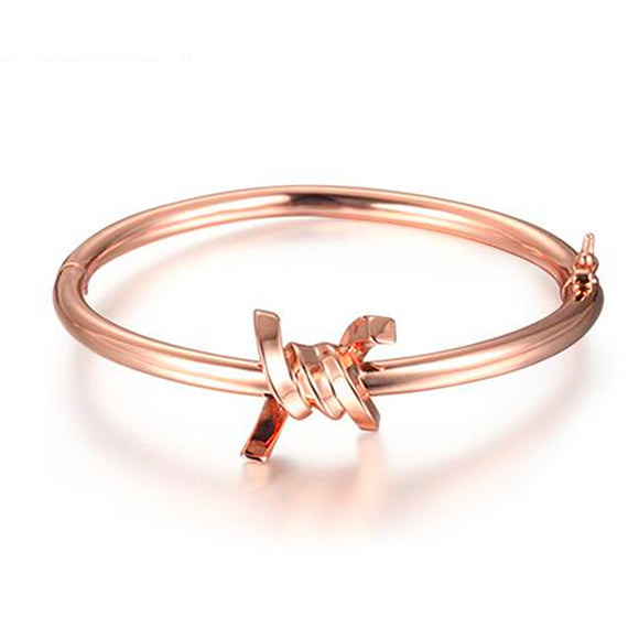 Barbed Wire Cuff, Rose Gold