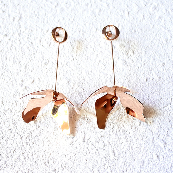 Aphrodite Drop Earrings, Rose Gold