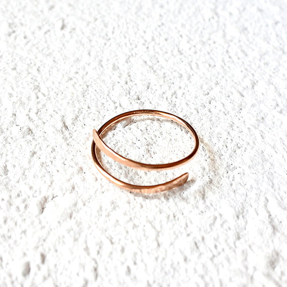 Hammered Thumb Ring, Rose Gold Vermeil
