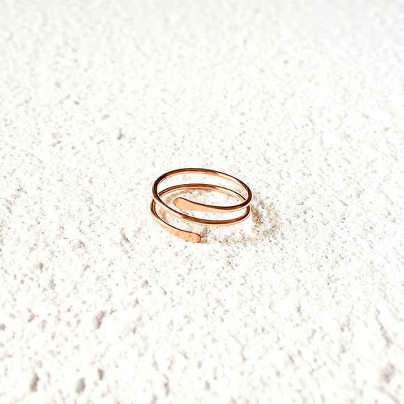 Wrapped Midi Ring, Rose Gold Vermeil