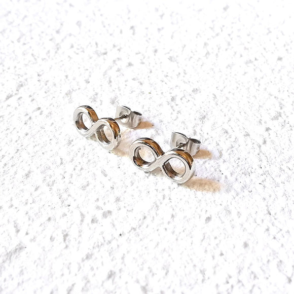 Eternity Stud Earrings, Silver