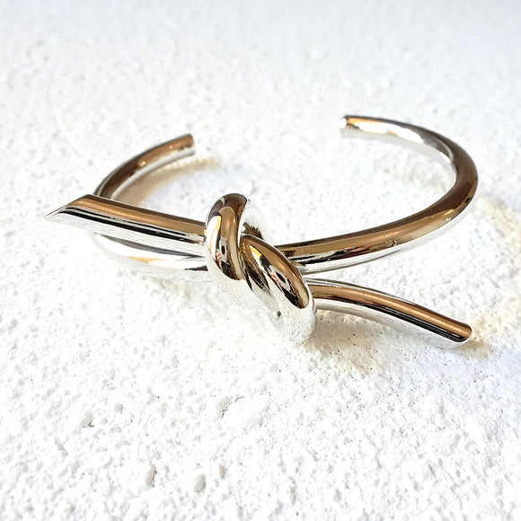 Tied Up Cuff, Silver