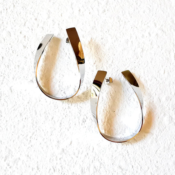 Twisted Metal Hoops, Silver