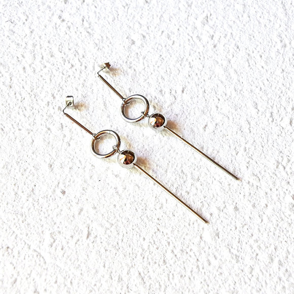 Amazon Drop Earrings, Silver
