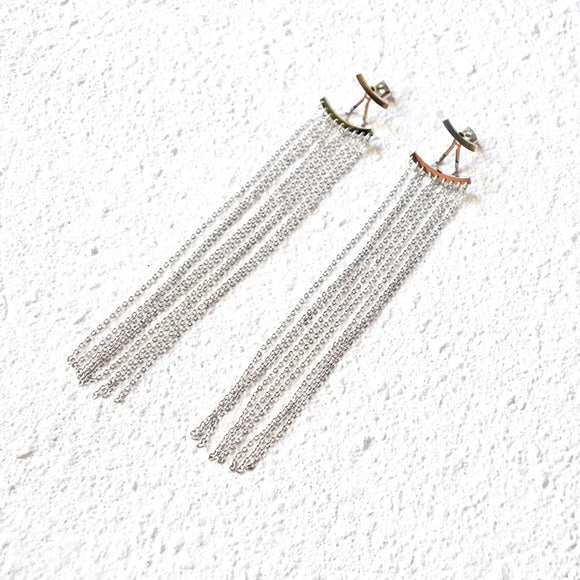 Apollo Drop Earrings, Silver