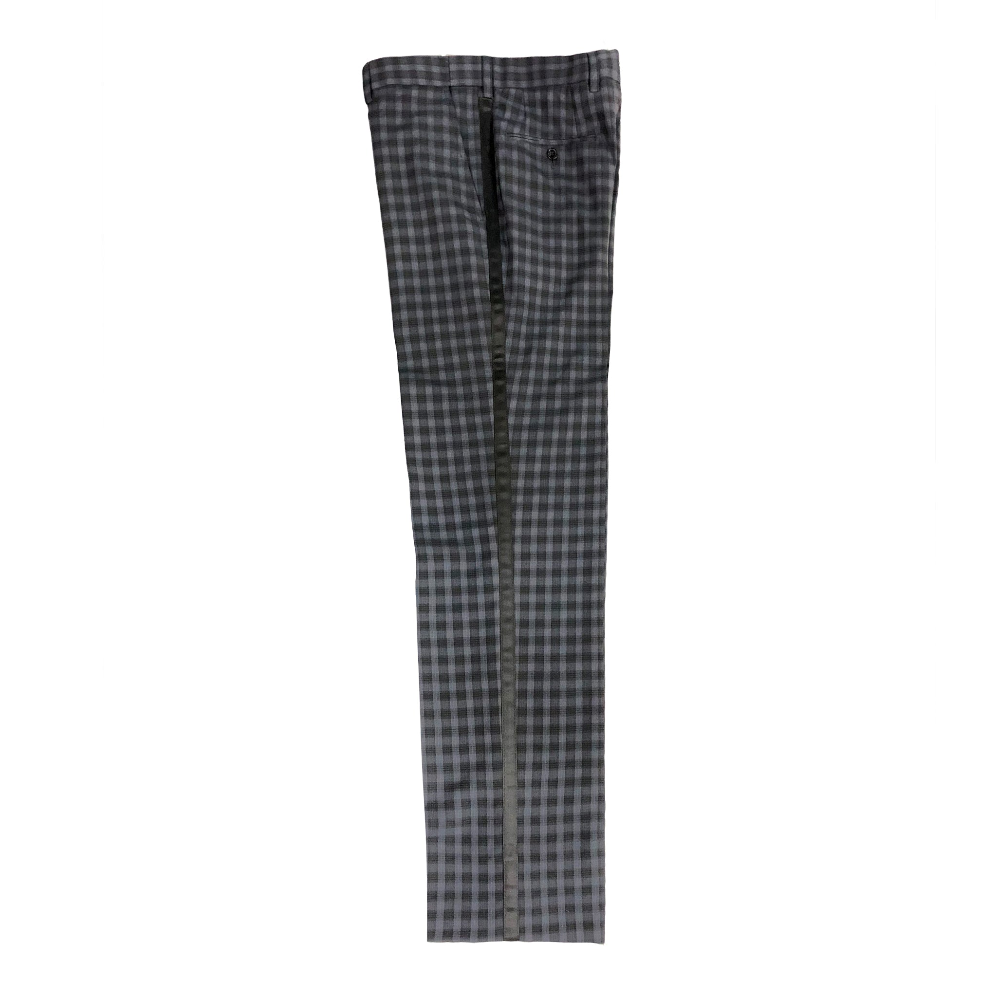 Dark Grey Check Pants