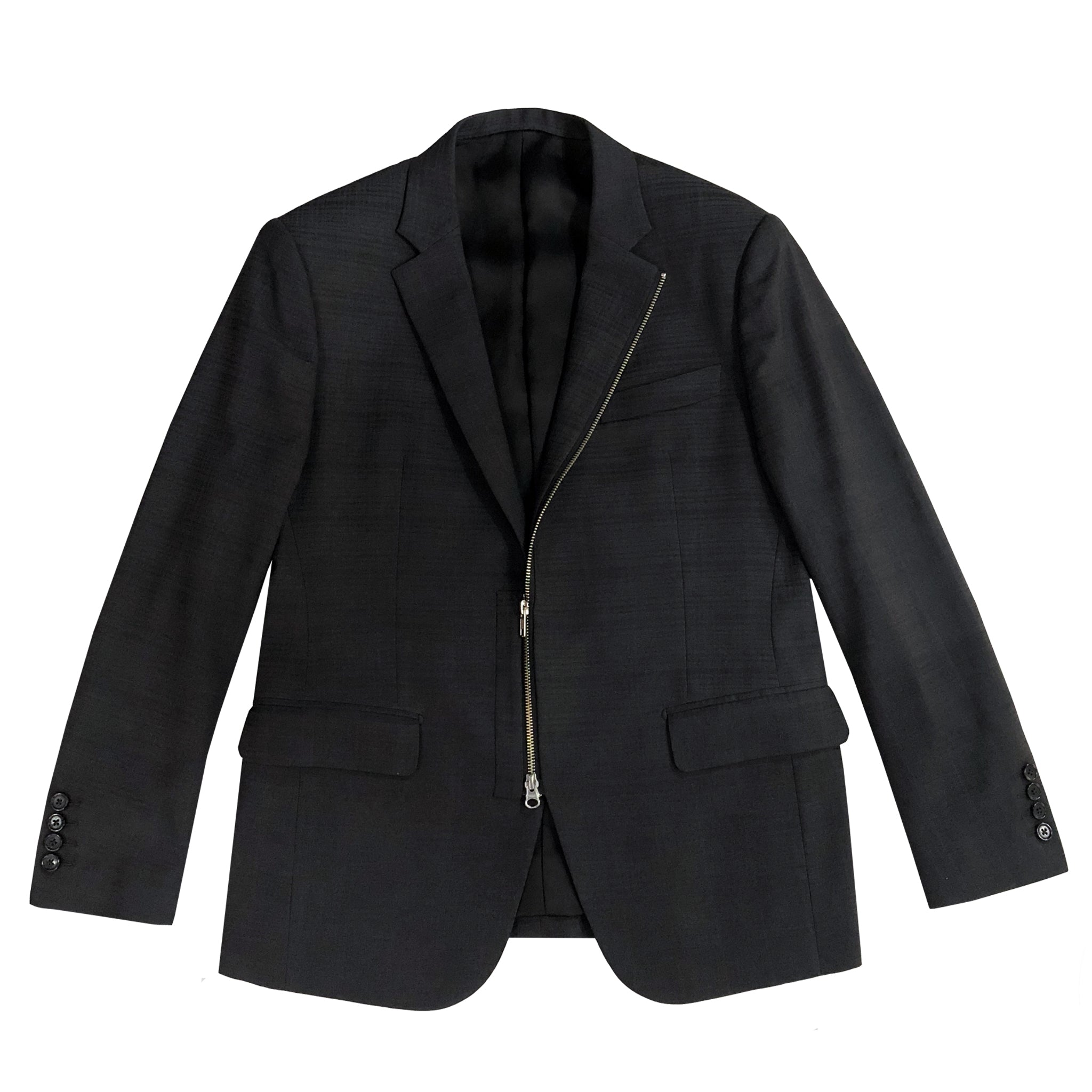 Zipper Check Blazer
