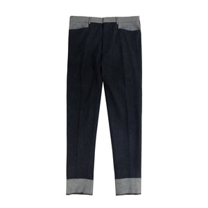 "TUXEE X Ariston ""Flip Collections"" Cashmere Denim Indigo Pants"