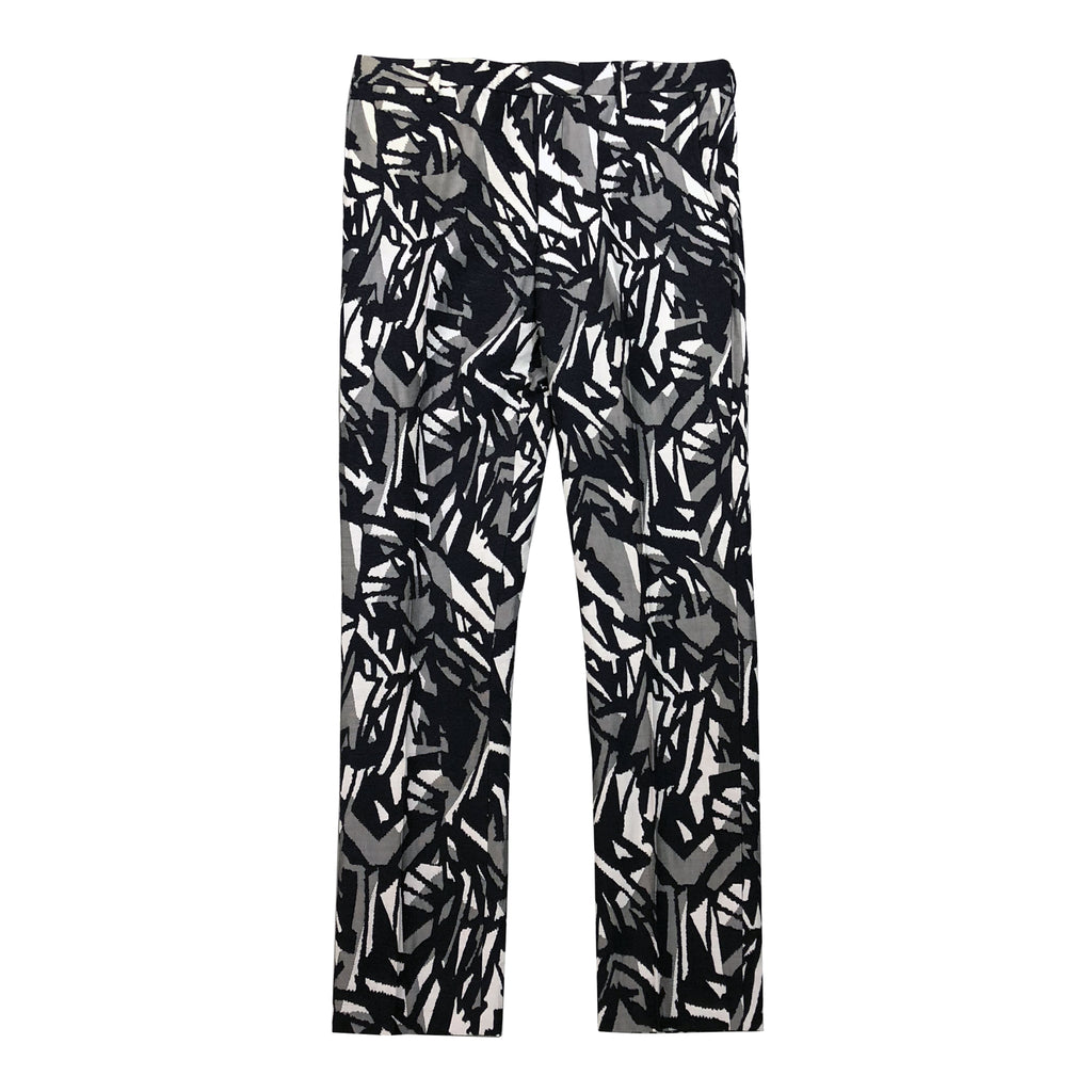 Black/White Geometric Pattern Pants