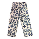 Butterfly Pattern Wide Cut Pants