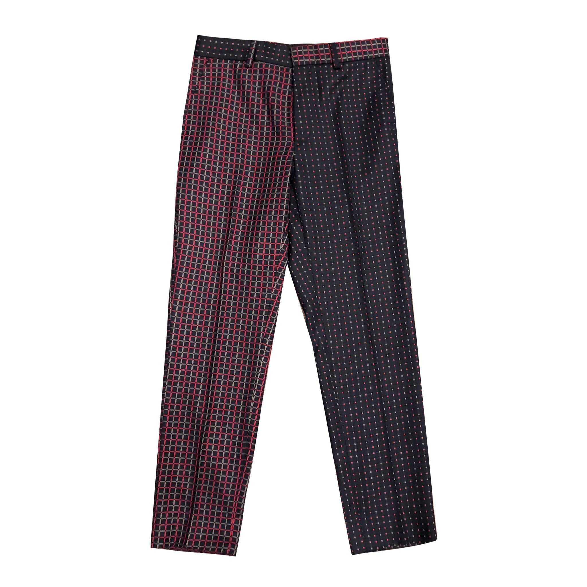 """Flip Collections"" Red/Blue Check Dot Pants"