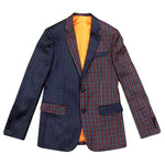 """Flip Collections"" Red/Blue Check Dot Blazer"