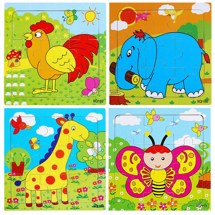 Preschool Wood Jigsaw Puzzle (9 pieces)