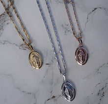 Platinum Small Virgin Mary Necklace