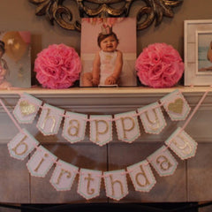Little Sweetheart Birthday Banner