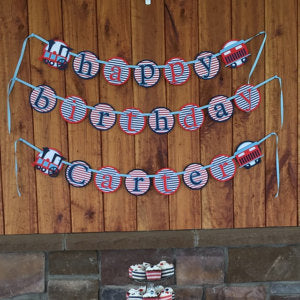 Custom Train Birthday and Name Banner