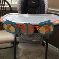 Happy Goldfish Highchair Banner