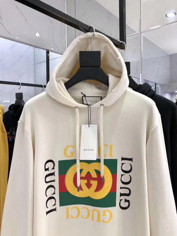 GG Cotton Hooded Sweatshirt with GG Logo