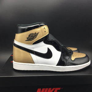 "Air Jordan 1 Retro High OG NRG ""GOLD TOE"" 861428-007"