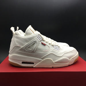 "Levi's x Air Jordan 4 Retro NRG GS ""White Denim"" AQ9103-100"